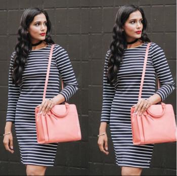 Striped Dress #stripes #stripeddress #staple #fashion #styling #ootd #black-white-striped #stripeddress #black-white-striped #ropo-style #ropo-fashion #ropo-love #ropo-style #roposofashion #roposofashionblogger #roposofashiondiaries #roposo-fashiondiaries