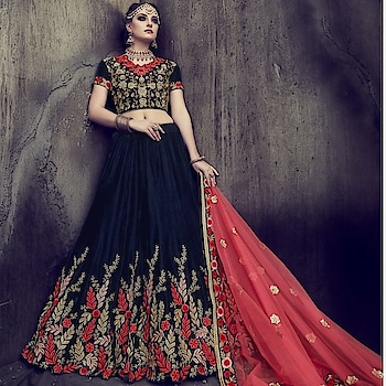 Looking for some ethereal outfit for an event wardrobe ? Grab this stunning #navyblue and #peach Party Wear Lehenga Available @ https://goo.gl/8echsi #bridal #indianwedding #weddingfashion #flat50off #designerwear #bridalfashion #designerlehenga #lehenga #trendalert #details #brides #bridesmaid #bridalbling #ShopNow #sneakpeek #manndola #USA #India #Canada #Australia #Dubai #UAE #Mauritius #London #Uk