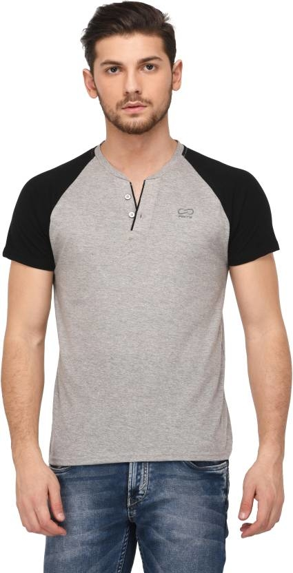 """Finity Graphic Print Men Henley Grey T-Shirt From the House of """"Finity"""" Enhance your look with this T-shirt and you will love yourself for buying it. Keep your dressing cool and classic. The color and pattern of the T-shirt will make you look every bit attractive. Wear it and look great.  https://bit.ly/2NCdu37  #tshirt #HalfSleeve #Cotton #Mentshirt"""