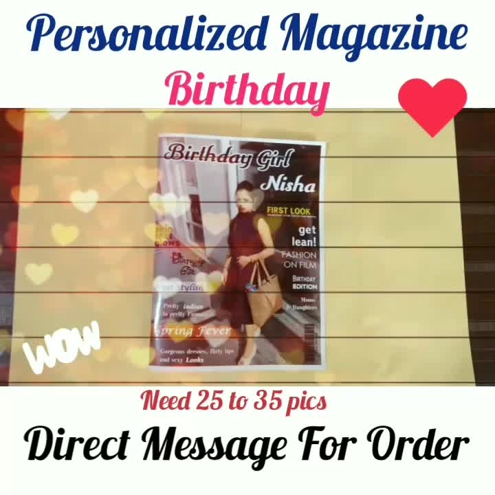 Personalized Magazine❣️ Birthday Special🎁 4 Page 8 Side And 8 Page 16 Side Available Direct Message For Order @photo_art_store @gifts_shopping_time  @gift_online_store  @personalized_magazine Special🎁🎁🎁🎁🎁😘 😍SPECIAL PERSON😍 Keep Ordering😍😍 Birthday Couple Friendship Family Anniversary 😍😍 😍 DM for Order . #surprises #specialgift #happybirthday #birthdaygift #birthdaygifts #customisedgifts #uniquegifts #giftsforher #giftsforhim #giftsforcouple #personalisedcards #greetingcards #mosaicstories #colorful#memories #moments #friends  #birthday #anniversary #weddings #gifts #customized #personalized  #photo_art_store #gifts_shopping_time  #gift_online_store  #personalized_magazine