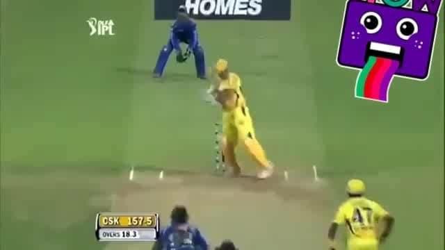 what a six...  @msd @bcci #cricket #icc #ipl #wow