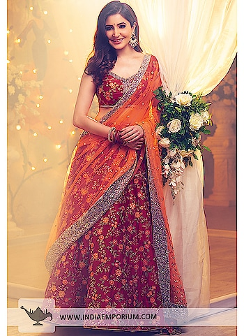 Ever considered buying designer lehengas online? At #IndiaEmporium, we bring to you the latest lehenga choli designs as well as the largest collection of the most beautiful wedding lehengas choli. Or why not get your own net fabric lehenga choli designed, by the team of designers! #anushkasharmadresses #onlinemadetoorderoutfits #bridallehengasonline #onlineshoppingstore