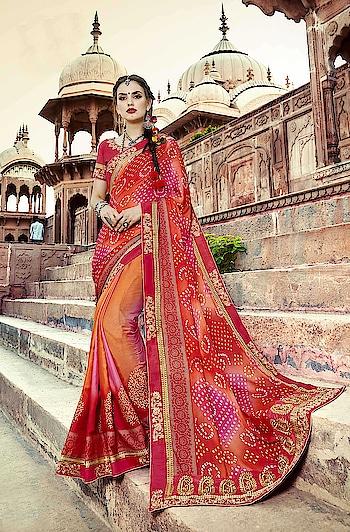 Bandhani Sarees...😍 Get Ravishing Looks with Traditional Touch...💗 Price:-1999/- To Order Whats-app us (+91) 809909000 * * www.nallucollection.com * * #saree #sarees #saris #Bandhanisarees #Bandhaniprint #handloom #weaving #Printedsaree #Printwork #embroidered #embroideredwork #love #designersarees #sareelove #sareeblouse #sareeswag #swag #sari #sarinotsorry #sareeindia #indiansaree #outfitoftheday #ootd #sareeoftheday #sareeaddict