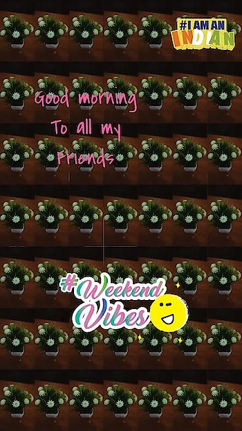 #weekendvibes #saturday #goodmorningpost #dailywisheschannel #goodmorning #iamanindian #weekendvibes