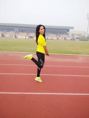 I'm so excited to run Airtel Delhi Half Marathon tomorrow & believe me it's driving me crazy 😆😆  #fitgirl #marathonrunner #fitnessenthusiast #roposotalenthunt