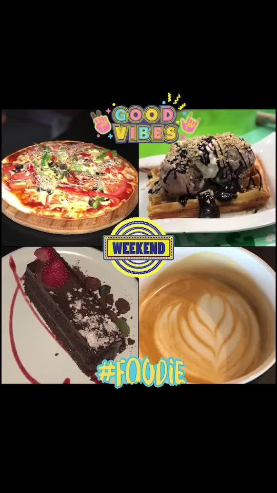 Yes, these are the basics for a good weekend😬😛😋😜😎😌☺️😊😁😄 #fun #enjoy #happy #coffeelover #pizzalover #sweettooth #cakelover #designyournailsbyisha #cafe #singapore #roposoblogger #soroposo #weekendlove #weekend #foodie #goodvibes