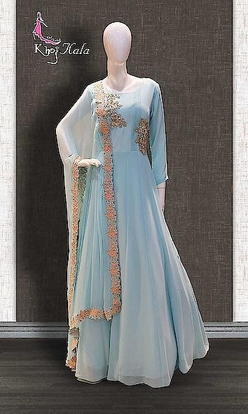 Blue Georgette Anarkali Suit http://www.khojkaladesign.com/bollywood-style/blue-georgette-anarkali-suit-17372.html  • Designer Party Wear Salwar Suit • Fabric : Georgette • Dupatta Fabric : Chiffon • Inner/Bottom Fabric : Georgette • Size : Stitched (customizable Upto size-44)  SKU: KHOJ7287 ₹9,576   #womenfashion #indianwomen #ethnics #fashion #salwarkameez #mydress #womenfashion #weddingsuitsdesigner #designersuits  #salwarkameez #casualsuit #straightsuit #anarkali #sharara #lehenga #casualwearsalwarkameez #Casualsalwarkameez #Partysalwarkameez #summer_fashion #summer #designerwear #partywears #heavyembroideredsuits #wedding #marriage #ceremony #bridaldresses #instastyle #khojkala