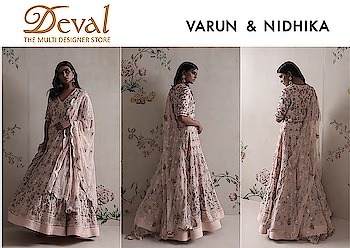✨✨Varun Nidhika   Deval The Multi Designer Store✨✨ Dreamy light weight occasion wear, traditional yet modern styles with intricate embroidery is all you need to make heads turn !! Shop the designers AW-18 Couture line in Wedding and Trousseau Closet on 18-19 July. For more details please whatsapp us +91 98984 22000 #fashionweekcollection #designercollection #devalstore #ahmedabad #occasionwear #trousseaucollection