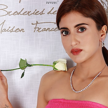 Swarovski on Sterling silver necklace & earrings set.. brand new offering from Revere enquire at care@revere.co.in. #revere #weekend #crystalnecklace #model #neckpiece #swarovskijewellery #happyvibes #jewellerydesigner #pinkdress #romantic #jewellery #style #beauty #swarovski ‪#shaadiseason #sterlingsilverjewelry #fun #crystalearrings #flowers #fashionblogger #styles #celebrityfashion #celebritystyle #neckpiece #creativespace #photography