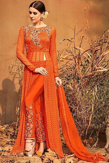 Let's Slay in this stunning #orange Party Wear Dress Available @ https://goo.gl/xU5VsS #beauty #SalwarSuit #OnlineShopping #Anarkalidresse #Jinaamdresses #Eidsale #bakraeid #bakraeidsale #jashneeid #Shimmer #Anarkali #partywearonline #sneakpeek #USA #India #Canada #Australia #Dubai #UAE #Mauritius #London #Uk #shopnow #manndola