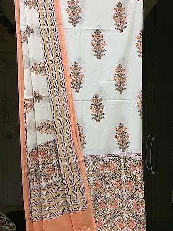 HAND BLOCK PRINTED PURE COTTON KURTA WITH PURE MALMAL DUPATTA  #cotton #cottonlovers #printeddupatta #fabrichandicraftshandblockprinting #onlinedressmaterial #dupattasuits #womenclothing #fashion-style #summer-looks #newarrivals #linen #cambricunstiched #designersuits #casual-clothing #bhagalpurisuits #unstitchedsuits #kurtisonline