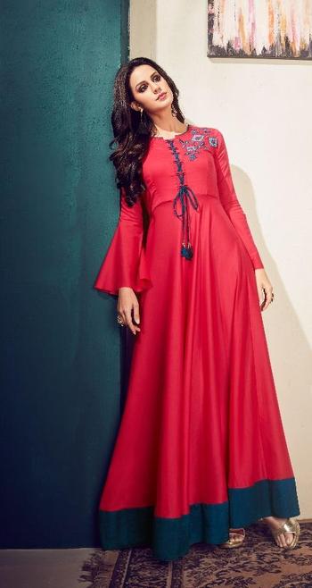 Attractive Festive Wear Long Kurtis...😍😍 Price:- 1650/- To Order Whats-app us (+91) 8097909000 * * www.nallucollection.com * * #kurtistyles #kurti #onlineshop #onlinekurtis #kurtisonline #dress #indowestern #ethnicwear #gowns #fashion #ethnic #flaredkurtis #anarkalikurtis #womenwear #style #love #socialenvy #beautiful #Longkurtis #outfit #shopping #thehappyone #loveness #indianwear #happyvibes #online-shopping