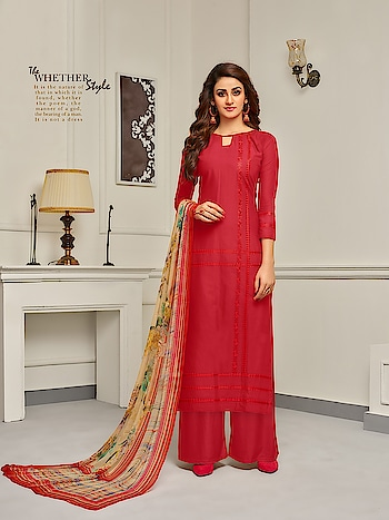 Designer Cotton Plazzo Salwar Suits Collection...💗💗 Price:- 1450/- To Order Whats-app us (+91) 8097909000 * * www.nallucollection.com * * #salwar #salwarsuits #dress #dresses #longsuits #suitsonline #plazzosuits #plazzo #ambroidered #motiwork #onlinefloralsuit #floral #printedsuits #printed #straightsuits #dupatta #fashion #style #stylish #love #pretty #design #shopping #ethnicwear