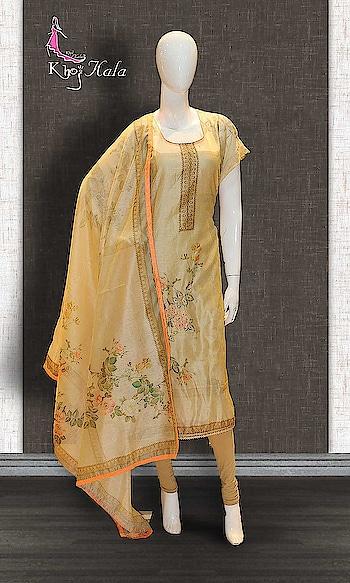 Beige Chanderi Casual Wear Suit http://www.khojkaladesign.com/casual-wear-suits/beige-chanderi-casual-wear-suit.html  • Designer Party Wear Salwar Suit • Fabric : Chanderi • Dupatta Fabric : Printed Chanderi • Inner/Bottom Fabric : Shantoon • Size : Semi-Stitched (customizable Upto size-44)  SKU: KHOJ0539 ₹2,468   #womenfashion #indianwomen #ethnics #fashion #salwarkameez #mydress #womenfashion #weddingsuitsdesigner #designersuits  #salwarkameez #casualsuit #straightsuit #anarkali #sharara #lehenga #casualwearsalwarkameez #Casualsalwarkameez #Partysalwarkameez #summer_fashion #summer #designerwear #partywears #heavyembroideredsuits #wedding #marriage #ceremony #bridaldresses #instastyle #khojkala