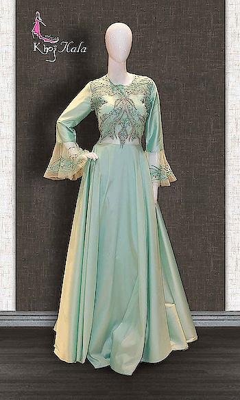 Green Satin Party Wear Gown http://www.khojkaladesign.com/evening-dresses/green-satin-salwar-suit.html  • Designer Salwar Kameez Suit • Fabric : Satin • Inner/Bottom Fabric : Satin • Size : Stitched (customizable Upto size-44)  SKU: KHOJ7262 ₹5,595   #womenfashion #indianwomen #ethnics #fashion #salwarkameez #mydress #womenfashion #weddingsuitsdesigner #designersuits  #salwarkameez #casualsuit #straightsuit #anarkali #sharara #lehenga #casualwearsalwarkameez #Casualsalwarkameez #Partysalwarkameez #summer_fashion #summer #designerwear #partywears #heavyembroideredsuits #wedding #marriage #ceremony #bridaldresses #instastyle #khojkala