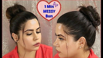 1 Min Easy Everyday Messy Bun For Thin to Medium Hair | Tips & Trick || 2 Different Bun Hairstyle #hairstyle #messybun #everyone