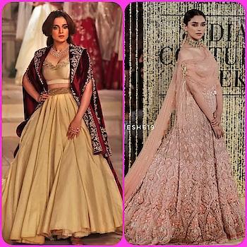 💜 STYLE ON MY MIND 💜 Blending traditional feminine silhouettes #kanganaranaut #aditiraohydari at#indiacoutureweek2018.pl visit www. styleonmymind.com   #traditionalwear #traditionalfashion #ethinicfashion #ethinic wear #celebrities #celebrityfashion #styleblog #roposo-style #styling #fashion-style #fashionguide #be-fashionable #roposo-fashion #glamourworld #glamourouslooks #glamourandstyle #be-in-trend #trend-alert #trendyfashion #roposo-makeupandfashiondiaries #roposofashionbloggernetwork #anjumodi #taruntahiliani #ropo-beauty #accessories