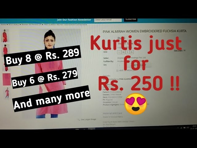 Kurtis for Rs. 250 Buy 8@ Rs. 289 and many more.  check out full video. Make sure to Subscribe and Press the bell icon.  :)  #lavishkajain #lavishfam #kurti #kurtilove #affordableprices #affordableclothing #gwalior #gwalioryoutuber #ytcreatorsindia #ytindia #youtuber #youtubeindia #indianyoutuber #subscribe #subscribenow