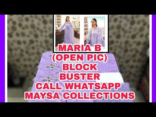 Super Hit Collection *#Mariya B* Block Buster  Top : Cotton #Shiffli Work Heavy #Embroidery And Print Bottom : Semi Lawn 2.75 Mtrs Dupatta : Net with Heavy #Embroidery N #Tussles  5 Pcs set  Set Rate : 999/- +Gst  Single Rate 1500/-  Dispatch: Ready 💯%  Confirm ur order Soon  Ltd Stock👍 Whatsapp on +918879845751. +919029093762  Whatsapp maysa collections directly from here.. https://api.whatsapp.com/send?phone=918879845751  Also Join our below networks free for getting latest updates.  Hello, thank you for your valuable message to MAYSA COLLECTIONS.  Will get back to you soon..   FACEBOOK  https://www.facebook.com/maysacollections  YOU TUBE  https://www.youtube.com/channel/UCWAOvQymcY3bTdp_0jFiuzA?sub_confirmation=1  TELEGRAM https://t.me/maysacollections  INSTAGRAM https://www.instagram.com/maysacollection6125  ROPOSO https://www.roposo.com/profile/maysacollection/18166642-9884-481a-ad55-8efb727cb4c