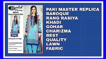 "*🌹#BISMILLAH TRADING vol.4*  *🎊Beautiful Collection Ever In Master Replica🎊*  *🌹#BAROQUE* *🌹#RANG #RASIYA* *🌹#KHAADI* *🌹#GOHAR* *🌹#CHARIZMA*  *""Paki Master Replica  *❣#Fabulous Colours #Combinations*  *💖Best Quality Lawn Fabric and Embroidered Patches are Given as Same as Original*  👉Embroidered Lawn Top with Embroidered Patches  👉Lawn Bottom   👉Printed Chiffon Dupatta  *💍#Pearls use as ur wish*  (10 pcs set)  *✅Singles.1850/-* *✅Set Rate 1600*10 pcz   *👉Sets and Singles Available  *👇Tomorrow Delivery انشاءاللہ* whatsapp on +918879845751. +919029093762  Whatsapp maysa collections directly from here.. https://api.whatsapp.com/send?phone=918879845751  Also Join our below networks free for getting latest updates.  Hello, thank you for your valuable message to MAYSA COLLECTIONS.  Will get back to you soon..   FACEBOOK  https://www.facebook.com/maysacollections  YOU TUBE  https://www.youtube.com/channel/UCWAOvQymcY3bTdp_0jFiuzA?sub_confirmation=1  TELEGRAM https://t.me/maysacollections  INSTAGRAM https://www.instagram.com/maysacollection6125  LINKEDIN https://www.linkedin.com/in/maysacollections  ROPOSO https://www.roposo.com/profile/maysacollection/18166642-9884-481a-ad55-8efb727cb4c"
