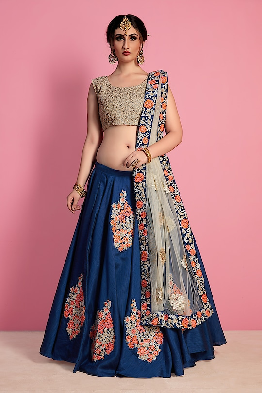 Enhance your beauty and charisma by donning this  lehenga. The heavy embroidery work, stone-work, and thread-work in the unique lehenga makes it an alluring piece of clothing to shine in traditional avatar,you can buy now from our no1 online resseling store sareeexotica .       #beauty #charishma  #lehengalove  #embroiderywork #summer-fashion #stonework #piece #avatar #onllineshopping #sareeexotica