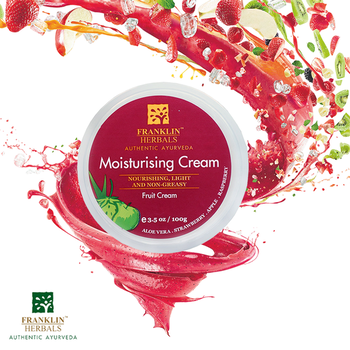 Pamper your #skin with our ultimate 'Moisturising Fruit Cream' that's enriched with Aloe Vera, Lemon peel oil, #Neem , Strawberry, #Raspberry & #Babassu!  It excellently moisturizes, along with its natural oils intensely hydrating the skin.  Shop Now: https://bit.ly/2GTXyta  #FranklinHerbals #MoisturisingCream #monsoonressential #FruitCream #Bodylove #naturaloils #femina #Naturalcare #Neem #AloeVera #LemonPeel #VirginOlive #FaceCream #nykaabeauty