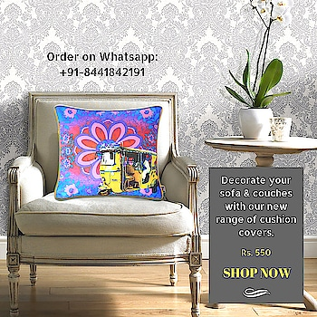 A dull and muted room can be instantly revived with these beautiful & bold cushion covers that splash a rainbow of hues & vivid colors, will really bring life to your home.  #cushioncover #designercushions #auto #taxis #indiancushion #buyonline #shekhawati #contemporary #design #decor #interior #interiordesign #homefurnishingindia #homedesign #homedecor #homestyle #homewares #interiorinspiration #interiorstyle #interiorlovers #interior4all #interiorforyou #interiordecor #interiordesignideas #interiorandhome #deco #art #architecture