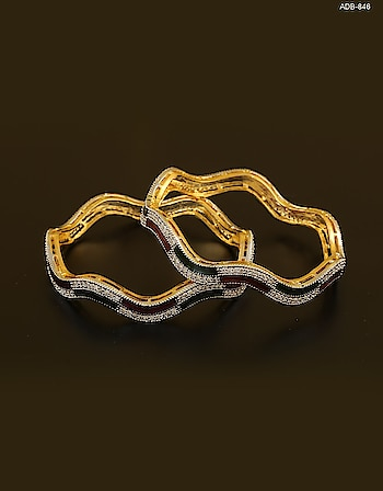 Add a stylish twist to your persona by clubbing with this beautiful American diamond bangles Pair from Anuradha Art Jewellery. Explore the wide collection of American diamond jewellery at the best price. Free shipping. Cash on delivery service available. Hassle-free Return. to see more design click on the link: https://bit.ly/2HCm5ys #buylatestamericandiamondbangles #americandiamodbangles #banglesonline #chudiya #diamondbangles #adbangles #banglebracelet #diamondkangan #kangan #diamondchudiyan #jewellery #americandiamondkangan #americandiamondchudiya  #Fridaymotivation