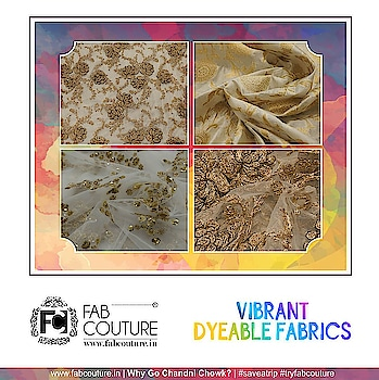 We know, it is a lot to consider when you are just looking to update your wardrobe, or embark on a new attire. Let Fab Couture make it simple for you. Just order the fabric of your choice in the colour of your choice!! What are you waiting for, order soon!! Grab your fabric at : https://fabcouture.in/ #FabCouture! #DesignerFabric at #AffordablePrices #DesignerDresses #Fabric#Fashion #DesignerWear #ModernWomen #DesiLook #Embroidered#WeddingFashion #EthnicAttire #WesternLook #affordablefashion#GreatDesignsStartwithGreatFabrics #LightnBrightColors#StandApartfromtheCrowd #EmbroideredFabrics