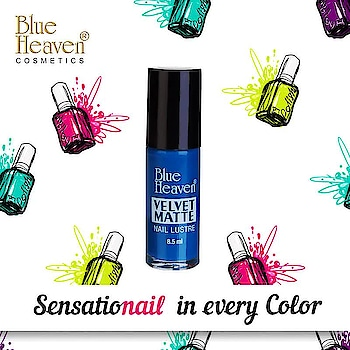 Have It? Flaunt It! Flaunt your Sensational nails this rocking Season with a blast of colors with our Velvet Matte Nail Luster Nail Paints 💅 #NailColor #NailPaint #MatteNails #NailArt #ColorBlast #Colors #Colours #BlueHeavenCosmetics #BlueHeaven