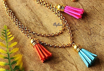 Trendy Tassel Necklaces Choose your choice of colour and get it custom made for yourself or for the someone special!! Get your from https://www.azilaa.com/41024 #myazilaa #azilaa #jewellery #custom #handmade #tassel ##trendy #necklace #happyvibes #college #fest #culture #share
