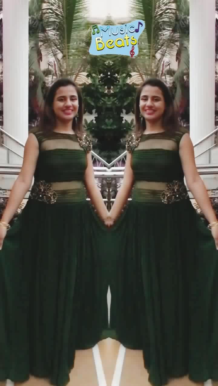 Green  #evening-gown #gownlove #bollywooddresses #greenlove #musicbeats