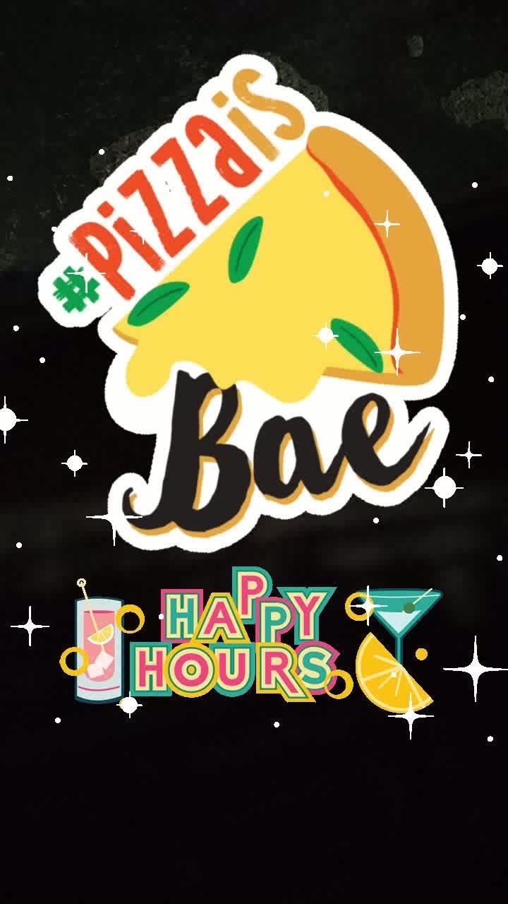#pizzaisbae #happyhours #glitter