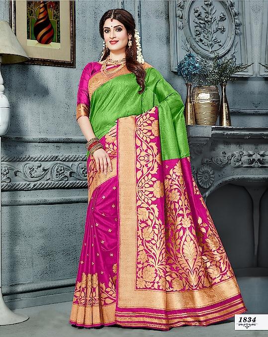 #new #catalog #Swara-Nx in #designer #silk #saree in all #brightcolors #traditionalwear #indiansilksarees #Creamsaree #yellowred #orangesaree #Weddingwear #bordersarees #Weddingwear to know more please whats app on +9198209361