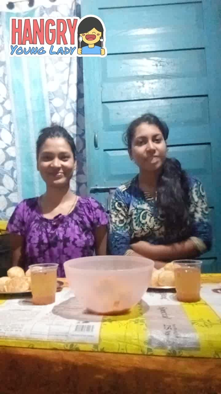 #golgappachallenge i ate only 3 🙁 so sister won the Challenge she ate 1 extra 😭 if i not wrong #roposo #fun #snack #panipurilover #hangryyounglady