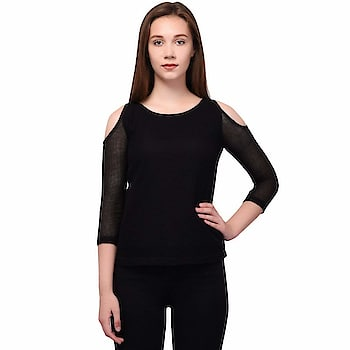 Jaconet Women's Casual Top | Stylish Cotton Net Black Top for Women Material : Cotton Net , Neck : U Neck , Shoulder : 3/4 Shoulder Soft and comfortable fabric of this Women Top make you look fashion, charming, mature and intellectual and, Team it with pair of jegging and flats to step out in style These Sizes- S, M, L, XL, Machine wash ,Wash Seperately in Cold Water  https://www.amazon.in/gp/product/B07FZ7V1KD  #CasualTop #CottonTop #BlackTop #bluetop #stylishTop
