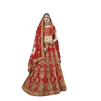 Get Ready For Your D-Day With This Beautiful Heavy Bridal Lehenga Choli In Red Color Paired With Red Colored Dupatta. This Lehenga Choli Is Fabricated On Art Silk Paired With Net Fabricated Dupatta. It Is Beautified With Heavy Jari Embroidery And Stone Work. This Lehenga Choli Ensures Superb Comfort Throughout The Gala.  ✔ #Beautiful #Heavy #Bridal #Lehenga #Choli #In #Red #Color #Paired #With #Red #Colored #Dupatta ✔ Shop https://tinyurl.com/y76o5o45 ✔ Price : Rs. 8599/- ✔ Product Code : 600-PRM7365 ✔ Call or Whatsapp : 9582775828