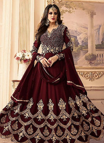 "Jazz up your Look with Our Stunning and latest #wedding #salwar kameez online. Shop More Save More. Grab it Now -<a hrehttps://www.bigbindi.com/salwar-kameez"">https://www.bigbindi.com/salwar-kameez</a>  #maroon #maroondress #bigbindi #fashion #trends"