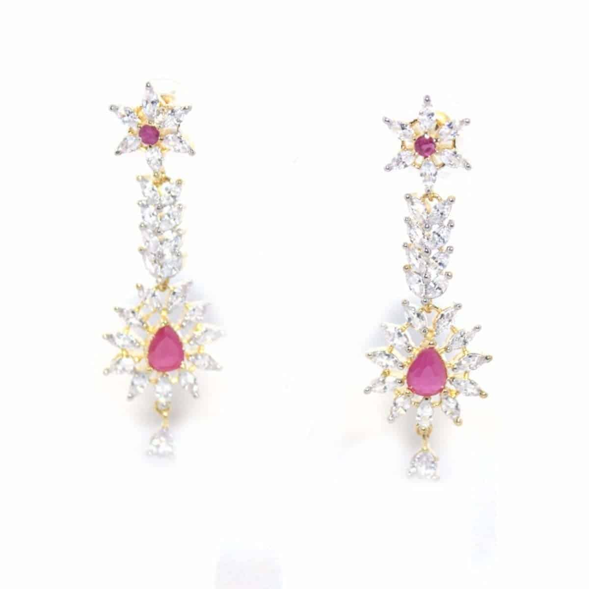 Jewelo Silver Color Alloy Cross In Cut Star Cut Centre Big Stone Hanging Partywear Earings for Women.  https://www.amazon.in/dp/B07DN6SZSG  #earrings #earringsforwomen #partywearearring