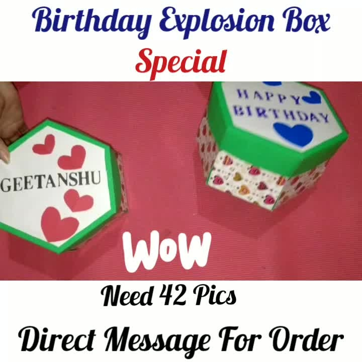 Love💖Explosion Box😘🎁 ❣️ Need 40 to 45 Pics Offer Price available for Limited Time ❣️❣️❣️❣️ Direct Message For Order @photo_art_store @gifts_shopping_time  @gift_online_store  @personalized_magazine Special🎁🎁🎁🎁🎁😘 😍SPECIAL PERSON😍 Keep Ordering😍😍 Birthday Couple Friendship Family Anniversary 😍😍 😍 DM for Order . #surprises#specialgift#happybirthday#birthdaygift #birthdaygifts#customisedgifts#uniquegifts #giftsforher#giftsforhim#giftsforcouple #personalisedcards#greetingcards#mosaicstories#colorful#memories#moments#friends#birthday#anniversary #weddings#gifts#customized#personalized  #photo_art_store #gifts_shopping_time  #gift_online_store  #personalized_magazine