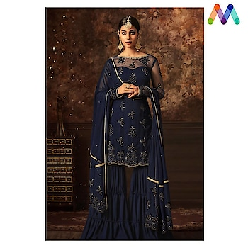 #Manndola's Latest collection flaunts a fresh Bold palette ! Grab this Stunning Party Wear #navyblue Party Wear Suit that can be Carried with a #Sharara @ https://goo.gl/4ooh3L #indianwear #vibranthues #SalwarSuit #SalwarSuitOnline #BuyOnline #net #eidsale #jashneeid #Ramadankareem #sneakpeek #jinaam #Surat #Mumbai #India #Unitedstates #USA #Canada #Australia #Dubai #UAE #Mauritius #London #Uk #shopnow