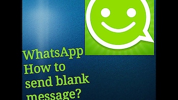 #whatsapp  : How to send a Blank message ? #black #sms