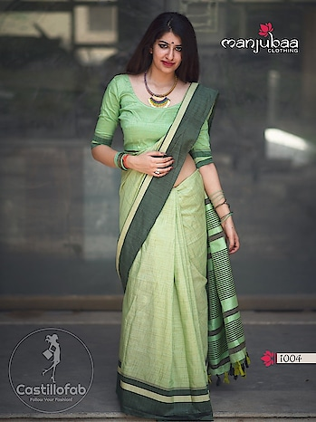 """#CastilloFab Catalog Name :- Lotus Vol-10 Brand :- Manjubaa Price per Piece :- 995/- + GST Total Design :- 6 Pcs  Product link :- https://castillofab.com/manjuba-lotus-vol-10-cotton-saree-wholesale ------------------------------Offer -------------------------------------- Get Exclusive 5% Discount On All Products. Apply Code """"FREEDOM72"""" To Avail Discounts..... -------------------------------------------------------- Call/whatsapp :- +91 8530 23 23 30 Visit our website :- www.castillofab.com -------------------------------------------------------- #sarees #sareecollection #indianwear #traditionalsaree #instafashion #newcollection #latestdesigns #suratsarees #weddingwear #partywear #bestprice #newlaunch #onlineshopping #ethnicwear #sareeonline #sari #brandedsaree #bollywoodsaree #surat"""