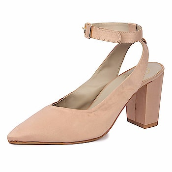 "SkoSti Women's Baby Pink Color Sling Back Block Heels Color : Pink Material : ""(Upper : satin )(Lining : PU )(Sole : neolite) (sheet-sole : Block) (Heel : wooden"") Lifestyle : casual/party/formal  https://www.amazon.in/dp/B07DLDR6B8  #BlockHeels #Sandal #womenSandal #girlSandal #casualsandal"
