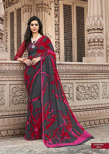 Fabric :- Georgette Work :- Print Work  Buy Now :- https://tinyurl.com/y827tn3b  Whats App :- +91 7621863000  #saree #partywear #designersaree #printedsaree #sari