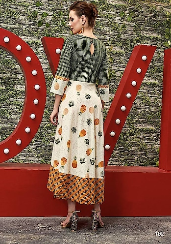 Long Flair Trendy Printed Cotton Kurti..Offer For the Day..💗☺️ Get this Kurti Only For 1190/- To Order Whats-app us (+91) 8097909000 * * https://bit.ly/2kr2TZw * * #kurtis #kurti #onlineshop #onlinekurtis #kurtisonline #dress #indowestern #ethnicwear #gowns #fashion #ethnic #womenwear #style #stylish #love #socialenvy #beauty #beautiful #pretty #swag #pink #design #styles #outfit #shopping #offeroftheday