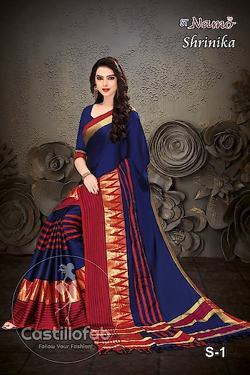 "#CastilloFab Catalog Name :- Shrinika Sarees Brand :- Rajyog Price per Piece :- 700/- + GST Total Design :- 10 Pcs  Fabric :- Cotton Silk Occasion :- Wedding , Ethnic, Festival Product link :- https://castillofab.com/rajyog-shrinika-fancy-silk-sarees-wholesale ------------------------------Offer -------------------------------------- Get Exclusive 5% Discount On All Products. Apply Code ""GET5"" To Avail Discounts..... -------------------------------------------------------- Call/whatsapp :- +91 8530 23 23 30 Visit our website :- www.castillofab.com -------------------------------------------------------- #sarees #sareecollection #indianwear #traditionalsaree #instafashion#newcollection #latestdesigns #suratsarees #weddingwear #partywear#bestprice #newlaunch #onlineshopping #ethnicwear #sareeonline #sari#brandedsaree #bollywoodsaree #surat"
