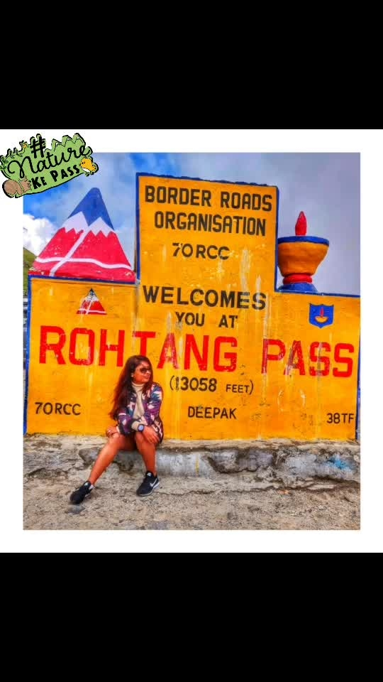 Here we started 🏍 manali to jispa . The chilled weather with amazing views and first destination Rohtang pass ❤️⛰ . . PC 📷 @_chinmayikulkarni_ 💙 .  #reneethereborn #popxoblogger #plixxoblogger #day2  #blogger  #delhiblogger #bold #socialmediainfluencer #fashioninspo #summerfashion  #bright #ootd #wanderlust #travelblogger #camuflage #winterfashion #travel #travelstories #roposolove #roposostyle #soroposo #roposofashion #fashionista #naturekepass