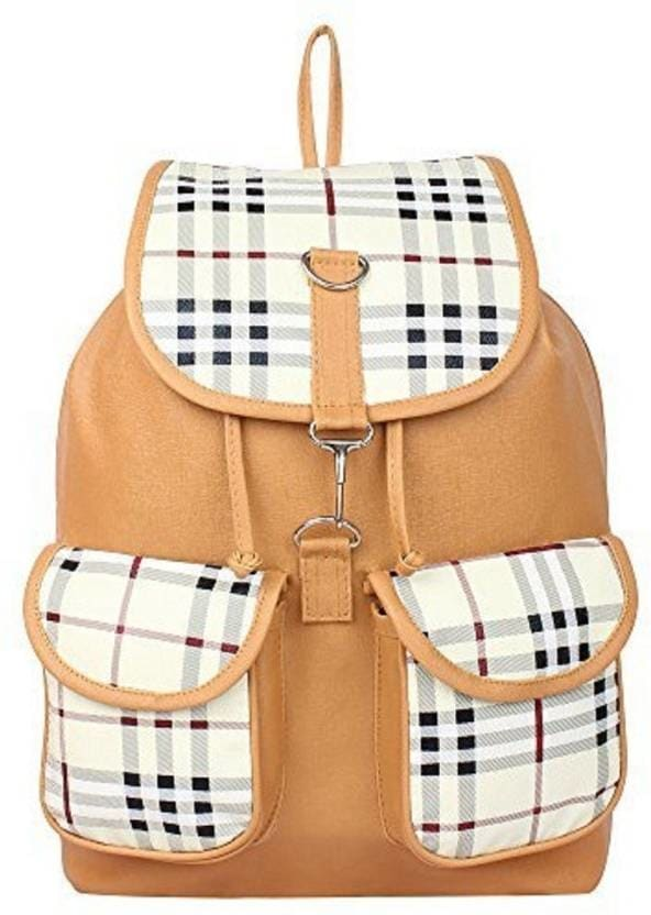 Shubh Creations Canvas Casual Multipocket for College Girls 10 L Backpack  (Beige) Highlights For Women Capacity: 10 L W x H : 24 x 36 inch Waterproof  https://bit.ly/2wdypBH  #SlingBag #CasualBag #womenbag #shoppingbags