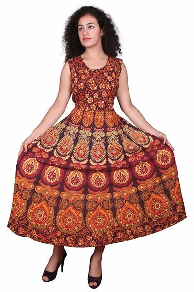 Royal Rajasthani print one piece cotton gowns.... Free size 44 up with sleeves & print Length 50..... Price 380/-with shipment charges Contact for Wholesale & Retail inquiry ......98254 42027  #cottonclothes #bazaar #onlineshoppingindia #gowndress #rajasthanistyle #printedfloraldesigns #fabric #onepiecedress #freeshippinginindia